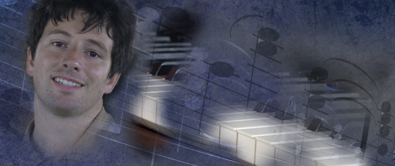 Pianist Daniel Fritzen mit Tastatur